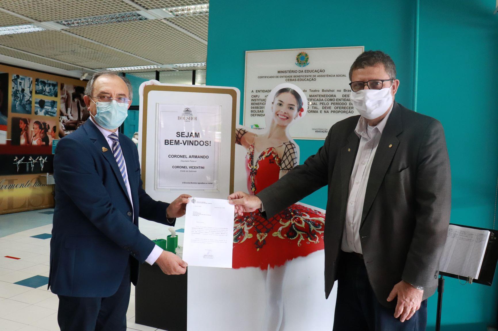 Escola Bolshoi recebeu Deputado Federal Coronel Armando