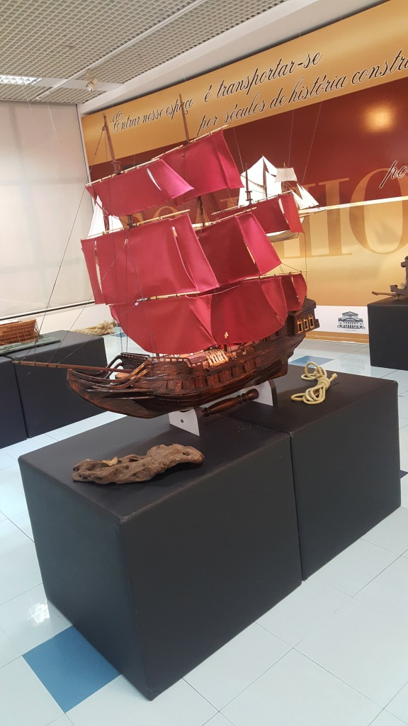 Exposição – miniaturas de barcos